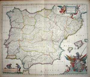 Espagne carte du XVIIIème