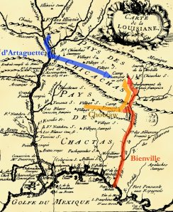 Carte de Louisiane de Dumont de Montigny (1753)