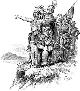 Hernando de Soto découvre le Mississippi