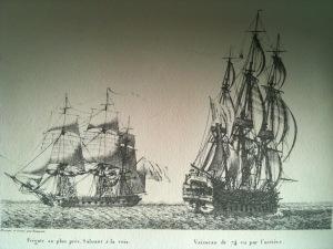 navire du XVIIIème siècle