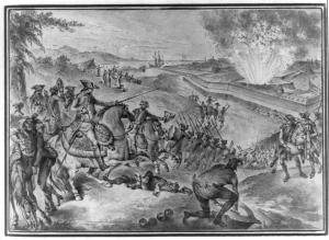 Prise de Pensacola gravure de Nicolas Ponce (1784)