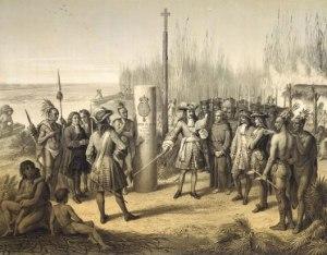 Prise possession de la Louisiane par Cavelier de la Salle au nom du royaume de France
