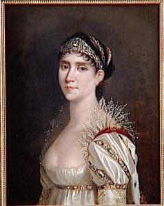 1809.1814 joséphine en robe de cour à chérusques