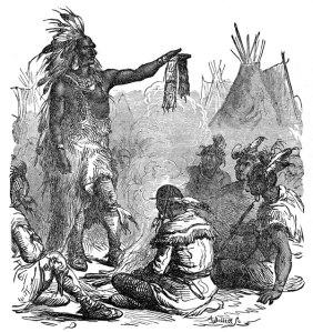 Chief Pontiac rallies his warriors