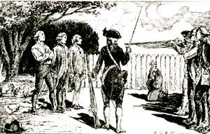 l'exécution de Joseph Milhet et de ses amis