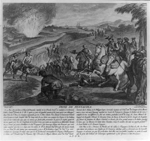 Prise de Pensacola en 1781 par les franco-espagnols