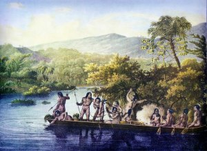canoé indien de Rugendas