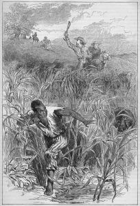 Chasing un esclave fugitif, 1840