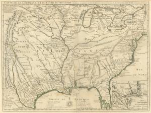 Delisle (Carte de la Louisiane et du Cours du Mississipi