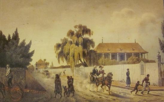 Felix Achille Beaupoil de Saint Aulaire (1801-1889) Faubourg Marigny à la Nouvelle-Orléans