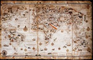 Pierre Desceliers (carte du monde parchemin (british Museum)