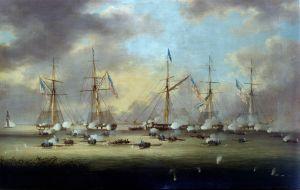 Thomas L. Hornbrook  (Vue d'artiste de la bataille du lac Borgne.