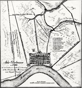 carte de la Nouvelle orléans