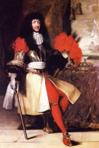 louis XIV assis (école française Versailles)