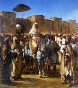 Eugène Delacroix (Sultan Moulay Abd Al-Rhaman entouré de sa garde, sortant de son palais de Meknès