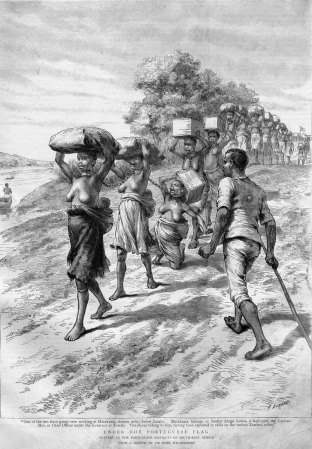 Slave Coffle, East Africa, 1891