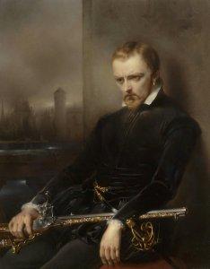 1844 roi français Charles IX assis dans une pose pensive