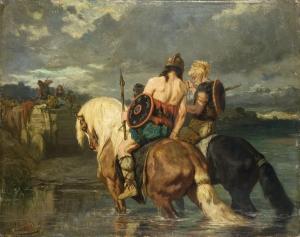 Evariste-Vital Luminais: Goths traversant une rivière