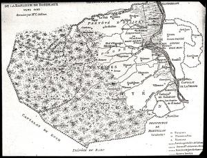 La banlieue de Bordeaux vers 1400 de C. Jullian - Histoire de Bordeaux