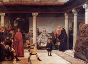 L'education des fils de Clovis par Alma Tadema