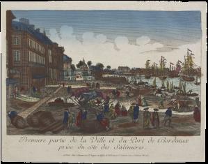 Bordeaux depuis la porte des salinières