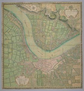 carte bordeaux au XVIIIème