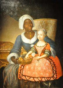 Portrait de Marie-Jeanne Grellier en compagnie de sa nourrice (Musée d'Aquitaine à Bordeaux