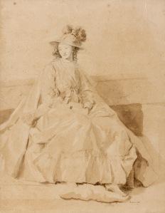FRAGONARD Jeune femme assise