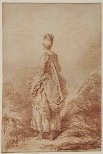 Jean-Honoré Fragonard Jeune femme debout, en pied