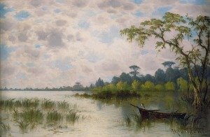 Bayou Landscape, 1886 (oil on canvas) by Meeker, Joseph Rusling
