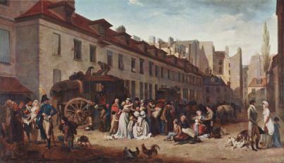 Louis-Leopold Boilly rue des victoires, les malles postes