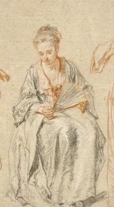 Watteau étude de femme