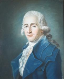 Marie-Gabrielle Capet (homme à la redingote bleue