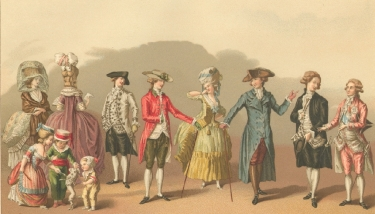 1780 FASHIONS FOR MEN, WOMEN, AND CHILDREN IN THE REIGN OF LOUIS XVI