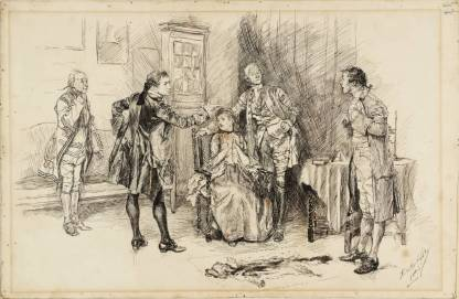 Illustration to 'She Stoops to Conquer' 1885 by Edwin Austin Abbey 1852-1911