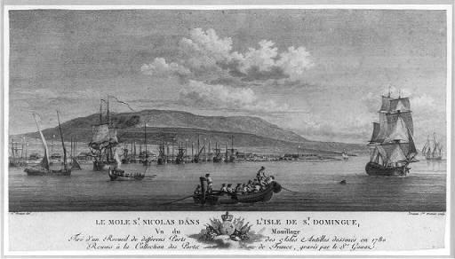 Saint Domingue en 1780, vue du mole Saint-Nicolas. (Pierre Ozanne)