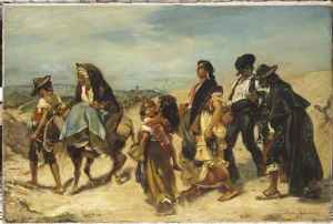 Alfred Dehodencq (1822-1882) Bohémiens en marche (Musée d'Orsay)