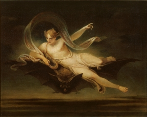 Henry Singleton - Ariel on a Bat's Back