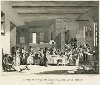 Intérieur d'un comité révolutionnaire sous la Terreur.