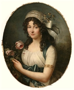 Portrait d'une dame de Marie Victoire Lemoine