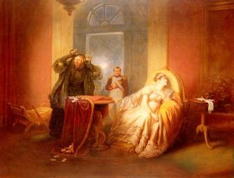 danhauser josef-napoleon et josephine avec la cartomancienne