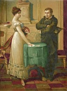 Mlle Lenormand lit les cartes pour Napoléon. Illustration d'un inconnu ...