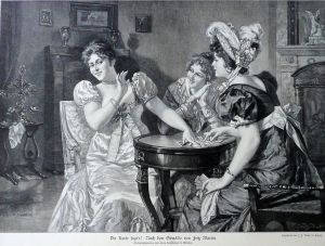 The Card's Speak by J. J. Weber, c. 1880.