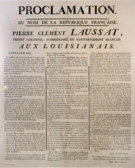 proclamation de Pierre Clément de Laussat