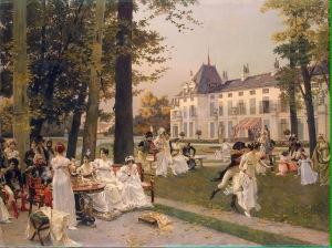 Flameng Francois (Reception à Malmaison en 1802 (1)