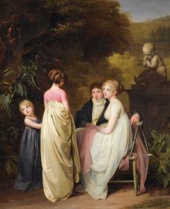 Louis-Léopold Boilly, Conversation dans un parc 1790s-1810s