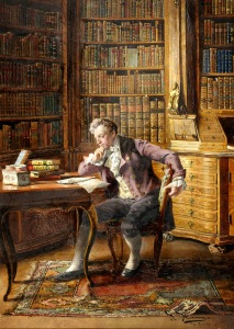 Hamza, Johann (A gentleman reading in the library