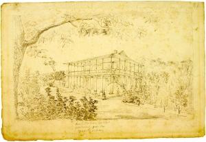 Lesueur, entre 1816 et 1840 (François Guillemin était Consul de France à la Nouvelle-Orléans de novembre 1825 à août 1838 Habitation de Mr Guillemin près de la Nouvelle-Orléans (Lousiane), C.-A.