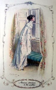 Illustration by Charles Edmund Brock for Jane Austen's Northanger Abbey (edition published in 1907 by J.M. Dent)