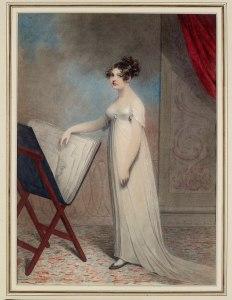 Adam Buck, Margaret Buck avec le portefeuille 1804